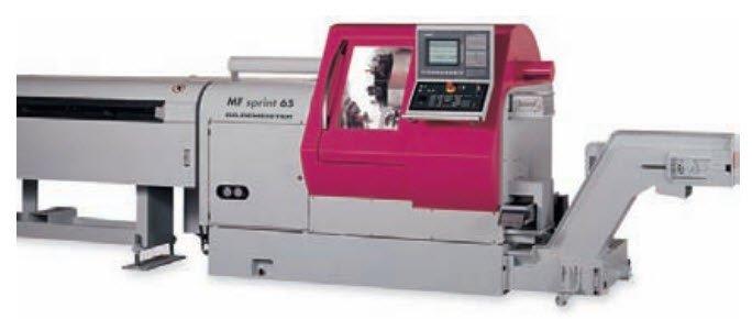 Máy tiện CNC với hệ thống cấp phôi tự động