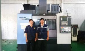 Vinamachines bàn giao thành công máy phay CNC Doosan